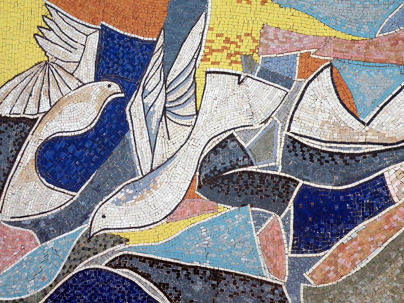 Egyptian street mosaic royalty free stock images