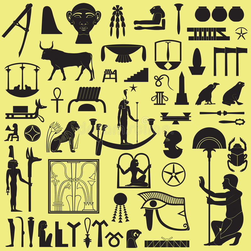 Download Egyptian Symbols And Signs 3 Stock Vector - Illustration of mythology, manuscript: 14328448