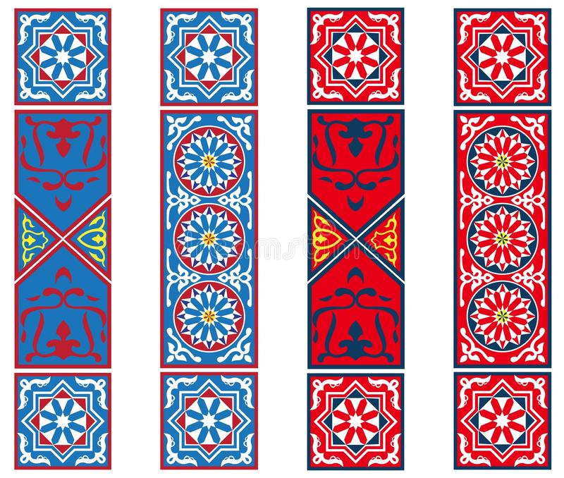Egyptian Tent Fabric Banners Stock Photos