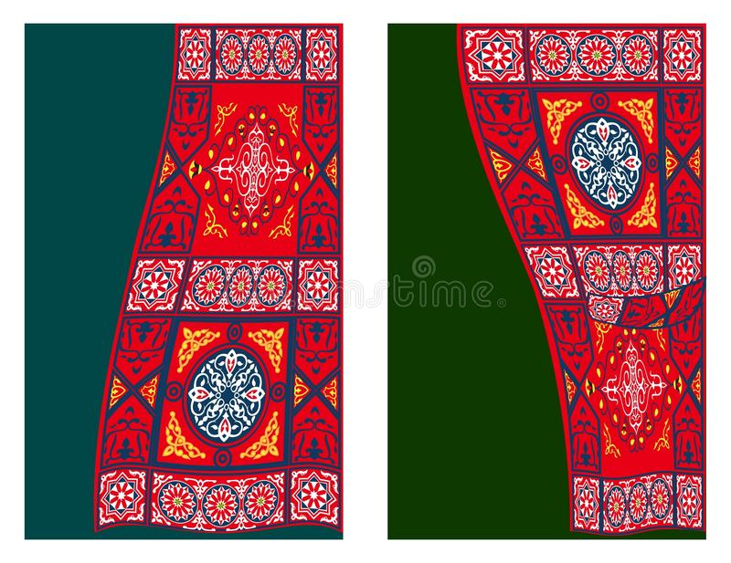 Egyptian Tent Fabric-Curtain Style 2 stock illustration