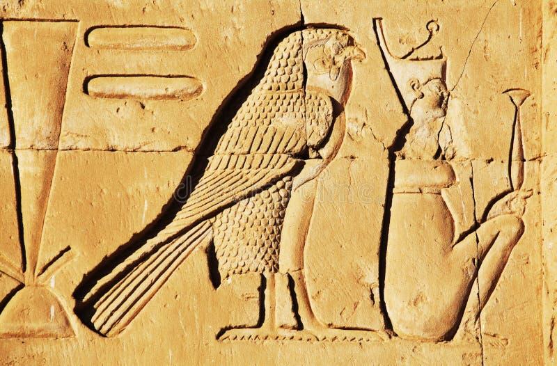 Egyptian texture. Hieroglyphics in the Egyptian Museum stock image
