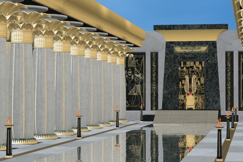 Egyptian Throne Room royalty free illustration