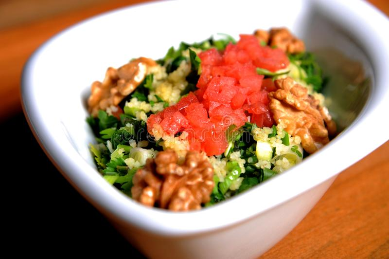 Egyptian traditional food Tabbouleh royalty free stock photo