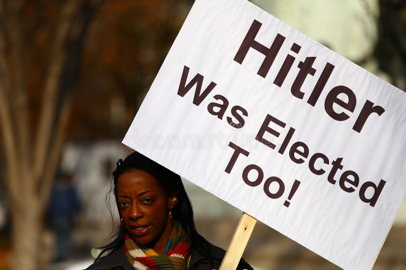 Hitler Elected Protests Placard Editorial Stock Photo