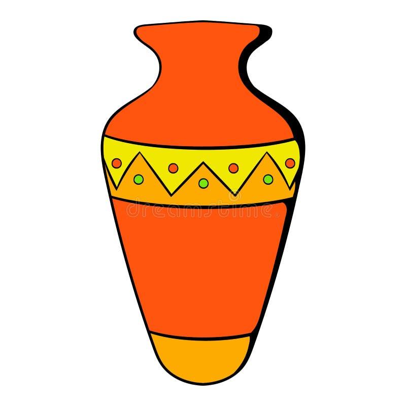 Egyptian Vase Icon Cartoon Stock Vector Illustration Of Egyptian
