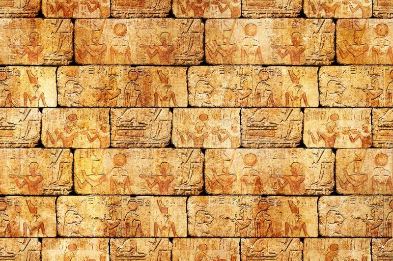 Egyptian wall royalty free stock photos