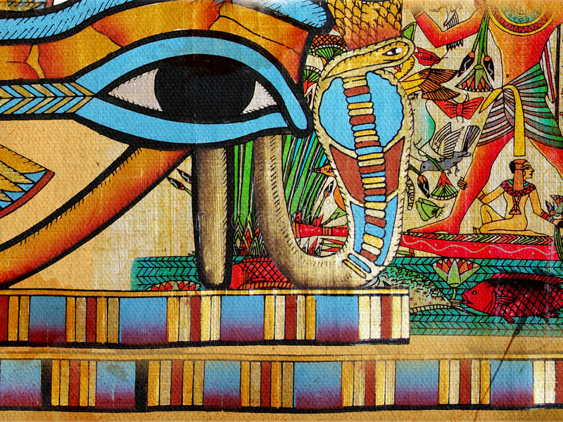 Egyptien d'abstraction photographie stock
