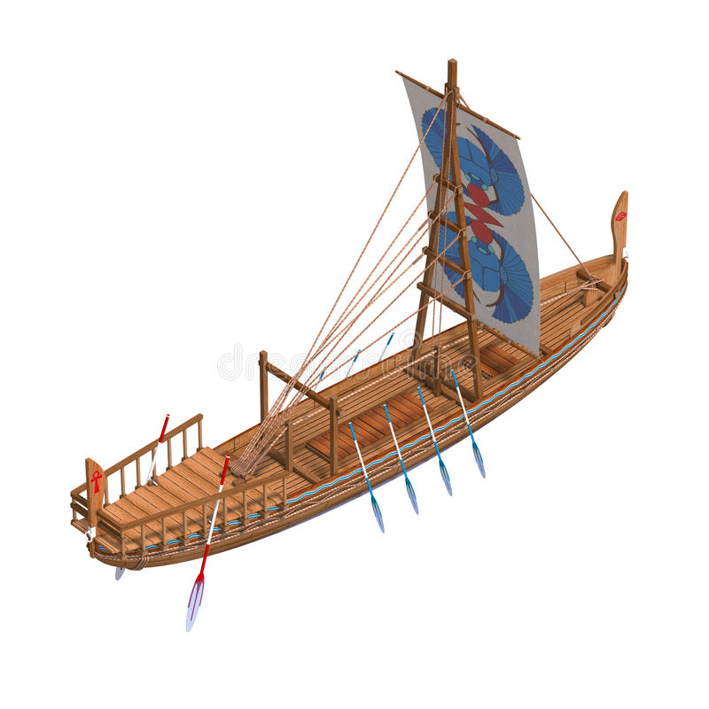 Egyptien de bateau illustration stock