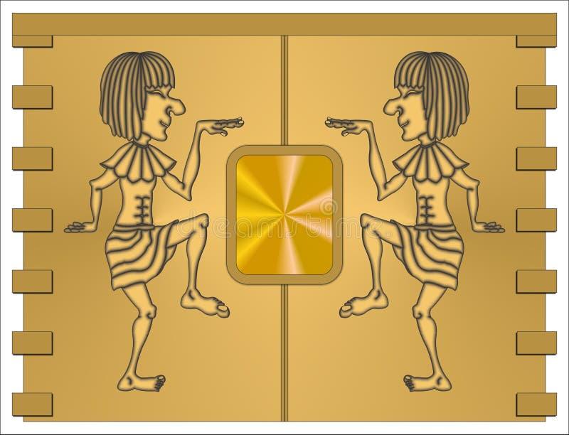 egyptier royaltyfri illustrationer