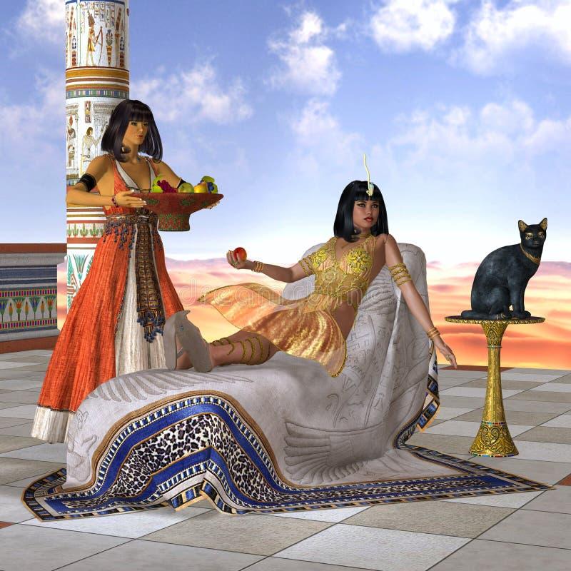 Egyptier Cleopatra royaltyfri illustrationer