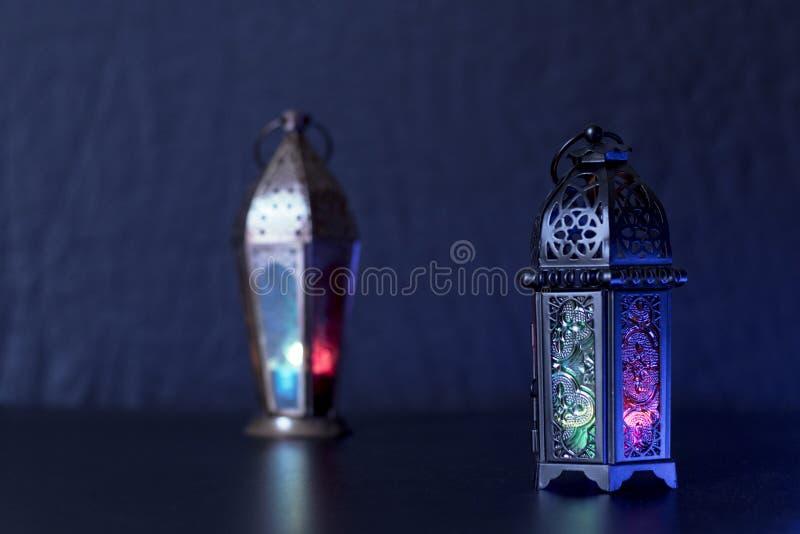 Egyptier Fanoos för Ramadan Kareem och eidalfitrlyktor arkivbild