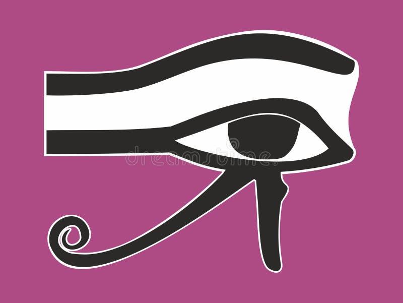 Egyptier synar av Horus - det forntida religiösa symbolet, vektor stock illustrationer