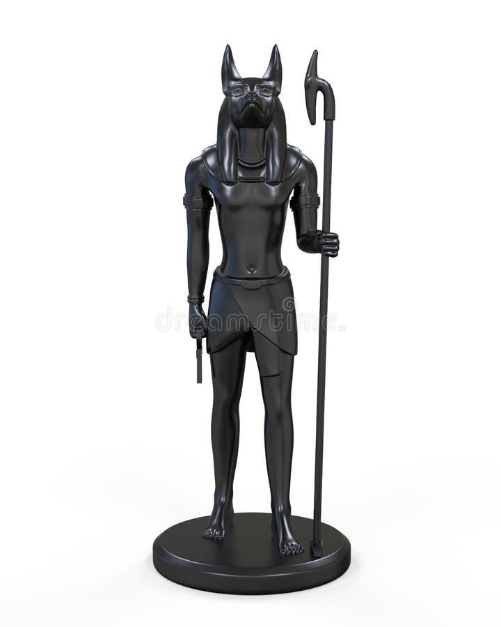 EgyptierAnubis staty vektor illustrationer