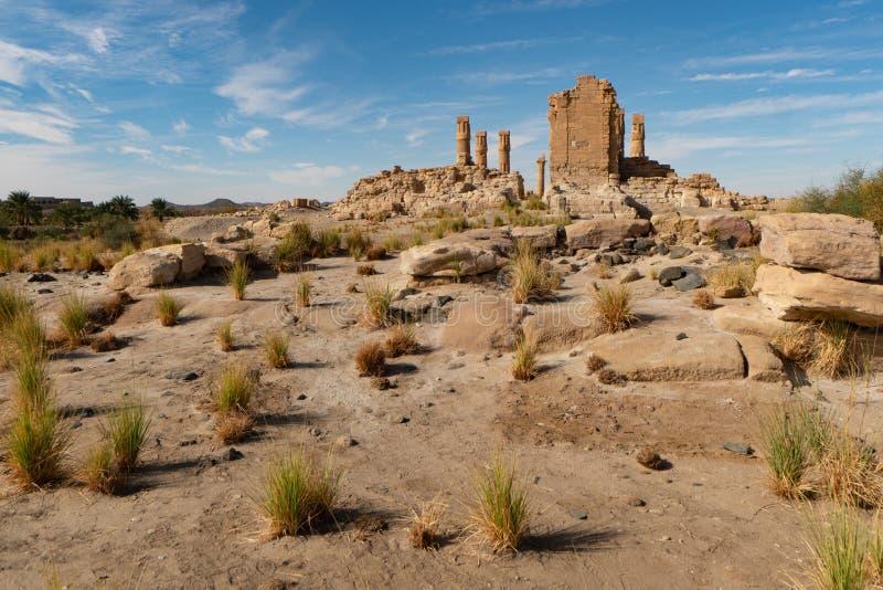 EgyptierSoleb tempel i det Nubian området av Sudan arkivbilder