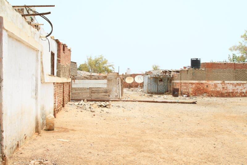 Egyptisch dorp in Marsa Alam stock foto