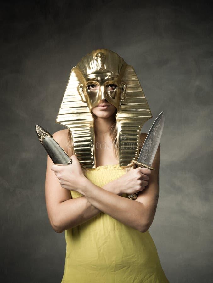 Egyptisch faraomasker royalty-vrije stock afbeeldingen
