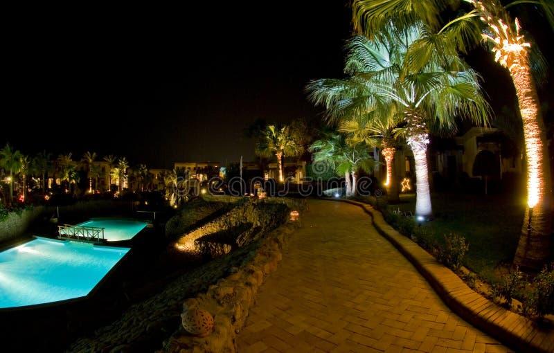 Egyptisch Hotel stock afbeeldingen