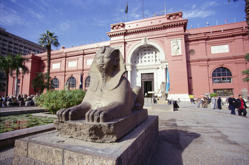 Egyptisch Museum, Kaïro stock afbeelding