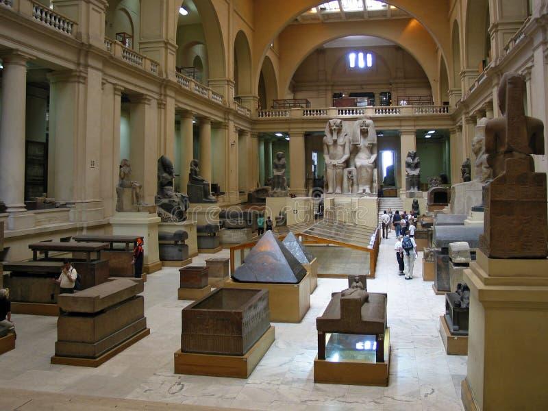Egyptisch museum in Kaïro stock foto