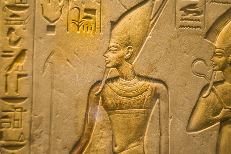 Egyptisch ornament het Farao` s graf stock fotografie