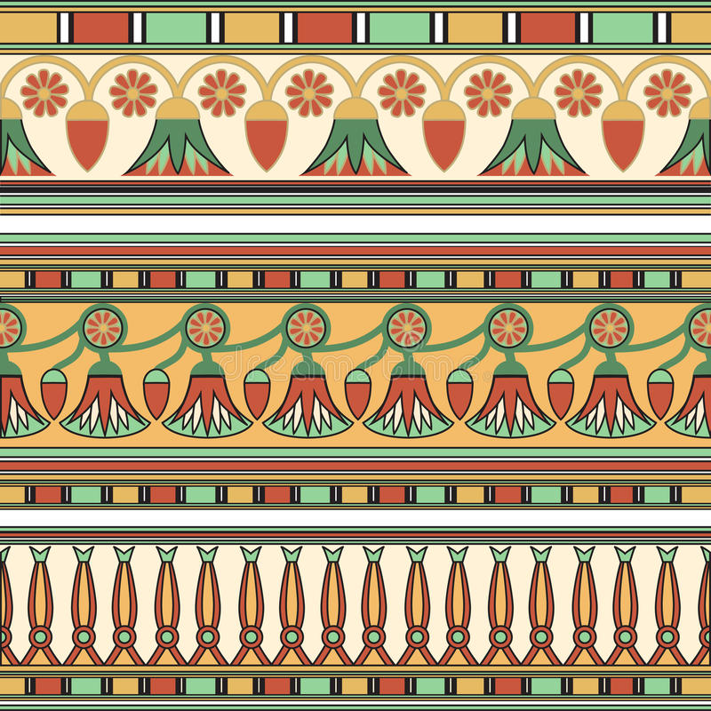Egyptisch ornament Ollection Ð ¡ vector illustratie