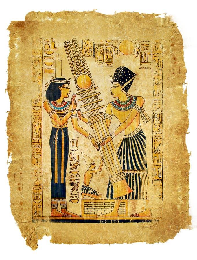 Egyptisch perkament royalty-vrije stock foto