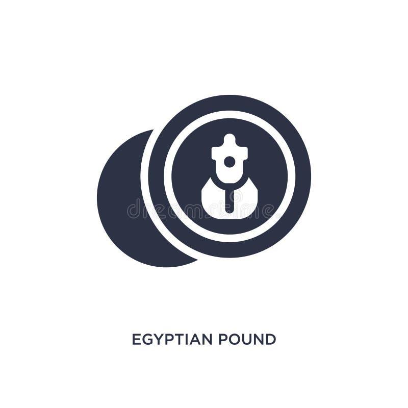 Egyptisch pondpictogram op witte achtergrond Eenvoudige elementenillustratie van het concept van Afrika royalty-vrije illustratie