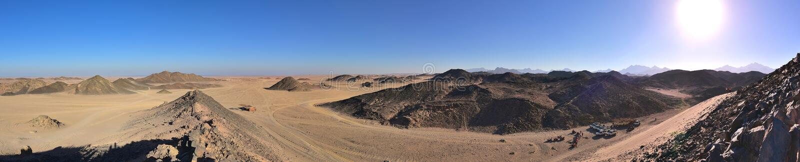 Egyptisch woestijnpanorama royalty-vrije stock foto