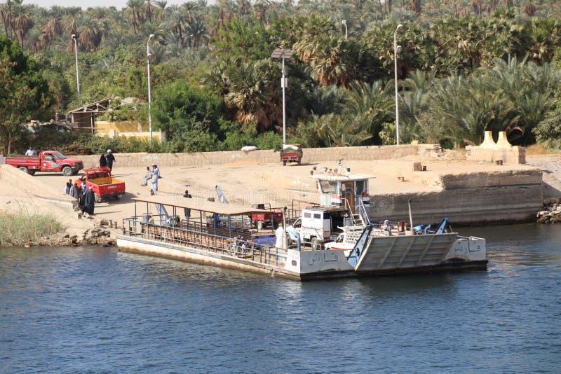 Egyptische Autoveerboot royalty-vrije stock foto