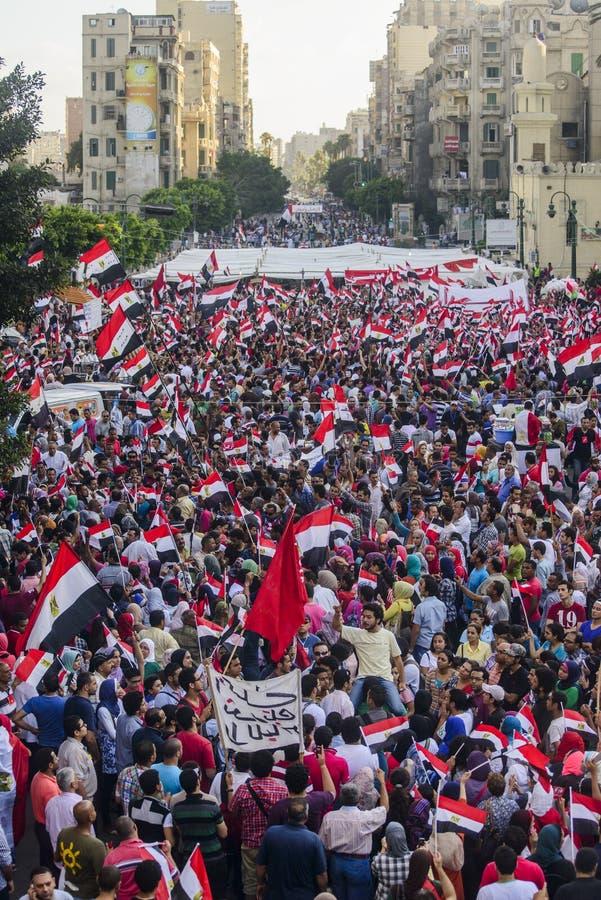 Egyptische Demonstratie tegen Morsy royalty-vrije stock foto