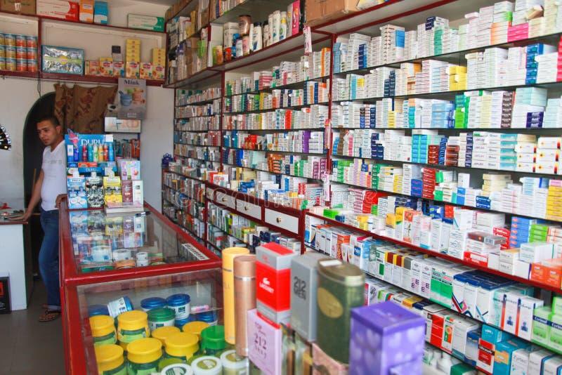 Egyptische drogisterij stock afbeeldingen