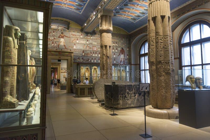 Egyptische en Dichtbijgelegen Oostelijke Inzameling van Museum van Art History (Kunsthistorisches-Museum), Wenen, Oostenrijk stock foto's
