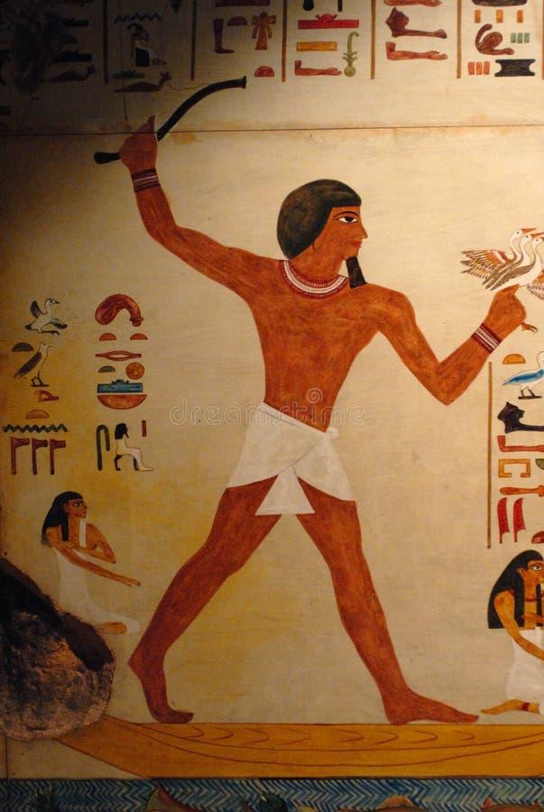 Egyptische fresko stock afbeeldingen