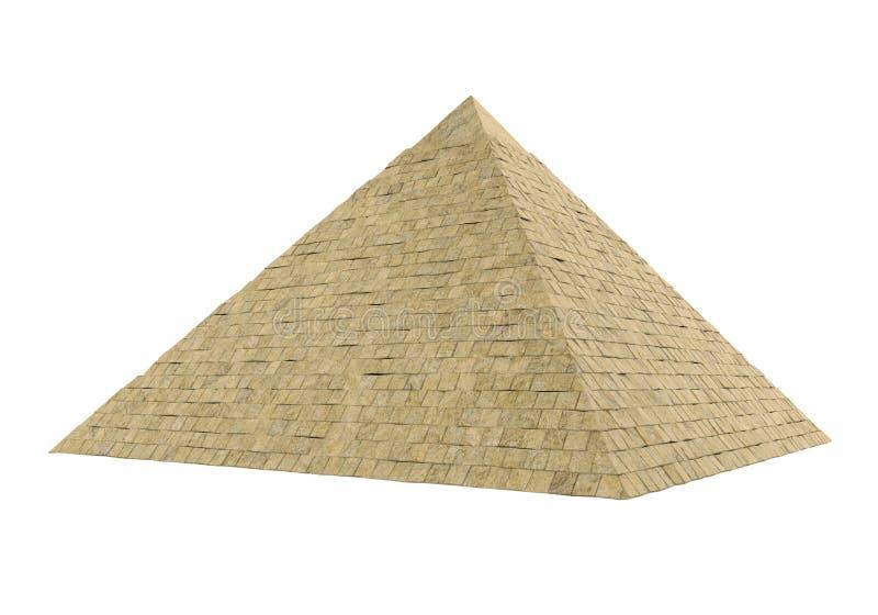 Egyptische Geïsoleerde Piramide royalty-vrije stock foto's