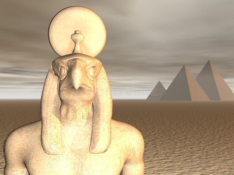 Egyptische God Horus royalty-vrije illustratie