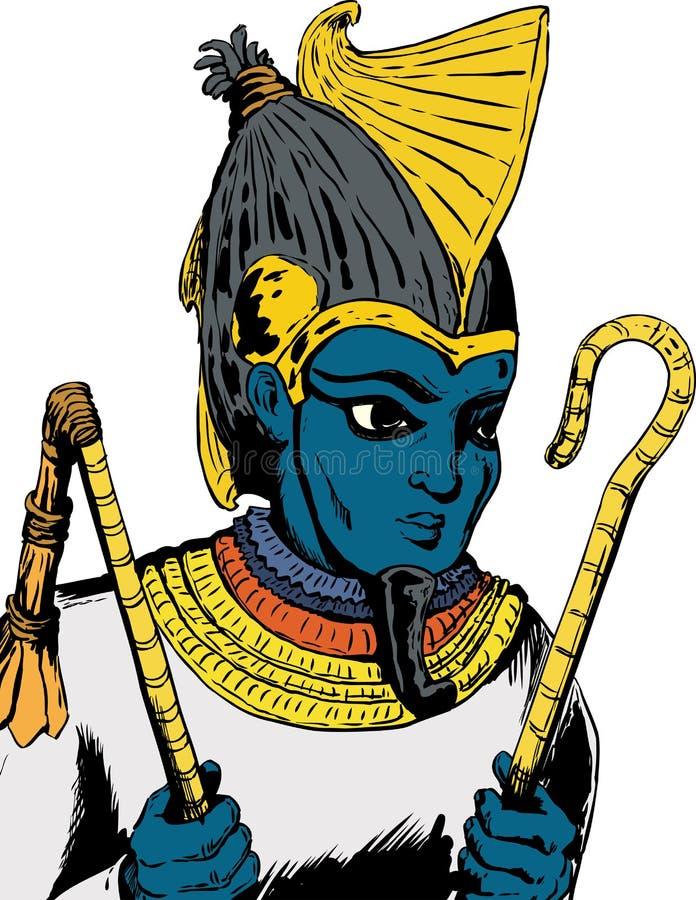 Egyptische God Osirus royalty-vrije illustratie