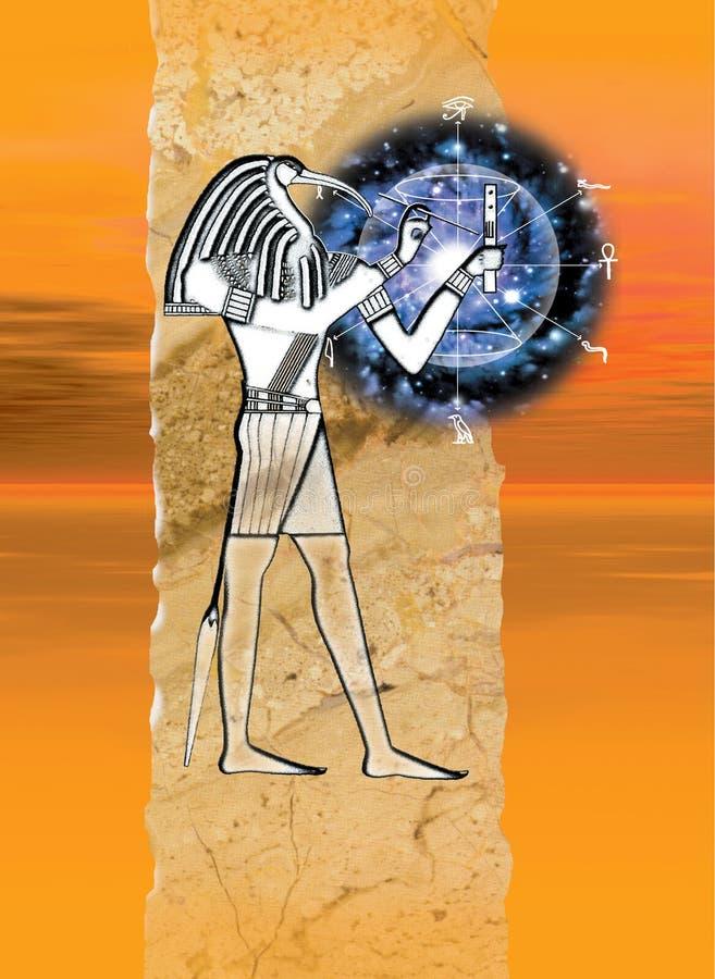 Egyptische God Thoth vector illustratie