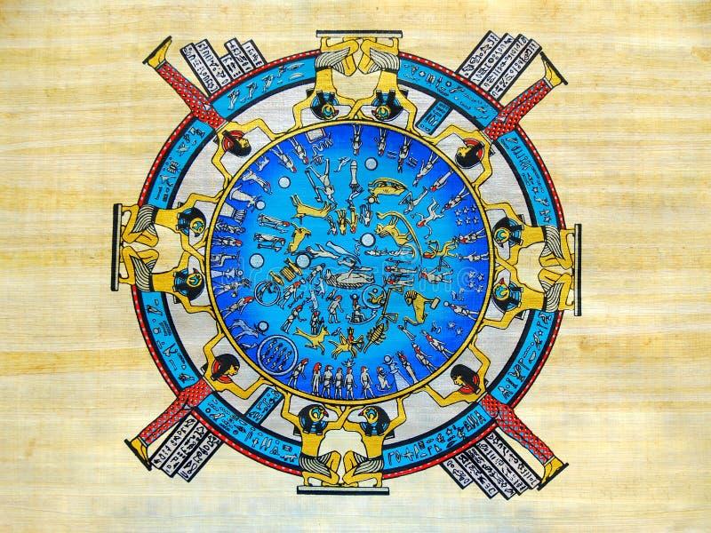 Egyptische kalender stock illustratie