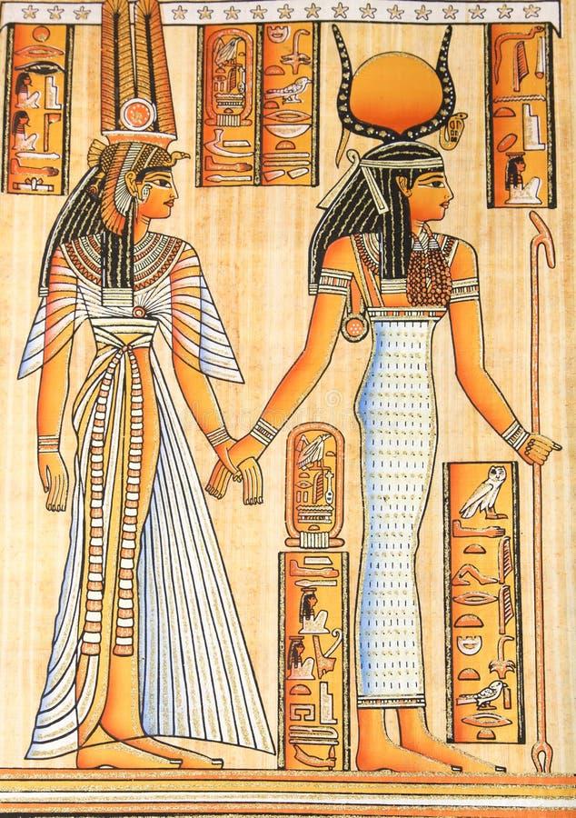 Egyptische koningin Cleopatra stock illustratie
