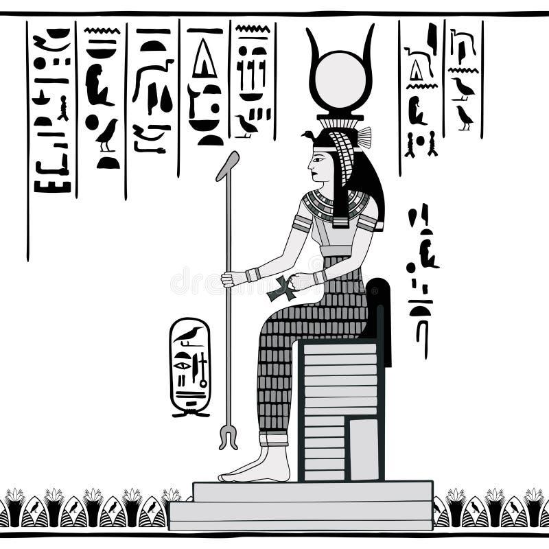 Egyptische nationale tekening stock illustratie