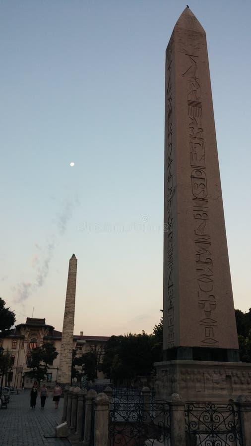 Egyptische Obelisk Istanboel Turkije royalty-vrije stock afbeeldingen