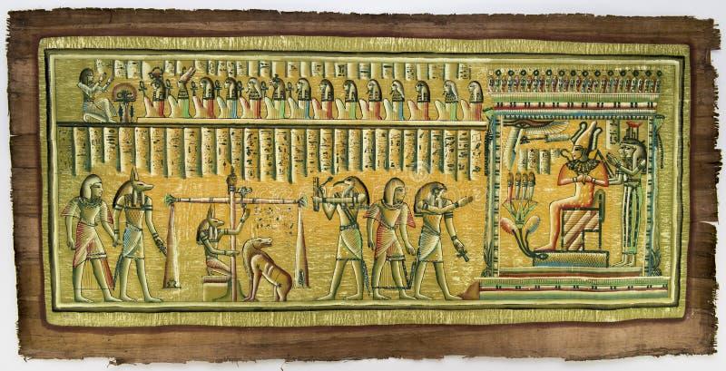 Egyptische papyrus royalty-vrije stock afbeelding