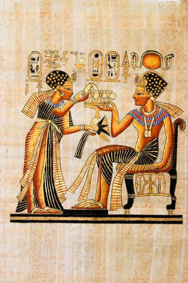 Egyptische papyrus royalty-vrije stock afbeeldingen
