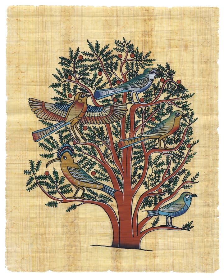 Egyptische papyrus vector illustratie