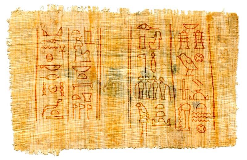 Egyptische papyrus met hiërogliefen, manuscript van de Karnak-tempel, Luxor, Egypte royalty-vrije stock foto