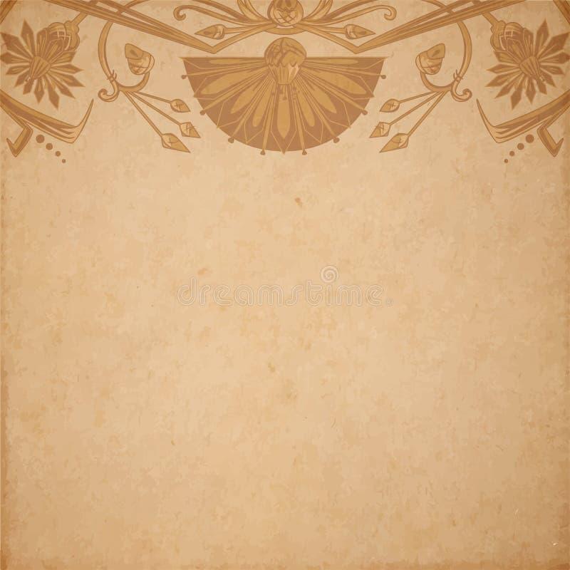 Egyptische perkamentachtergrond royalty-vrije illustratie