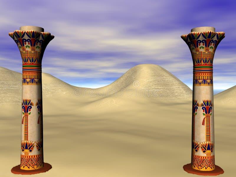 Egyptische pijlers royalty-vrije illustratie
