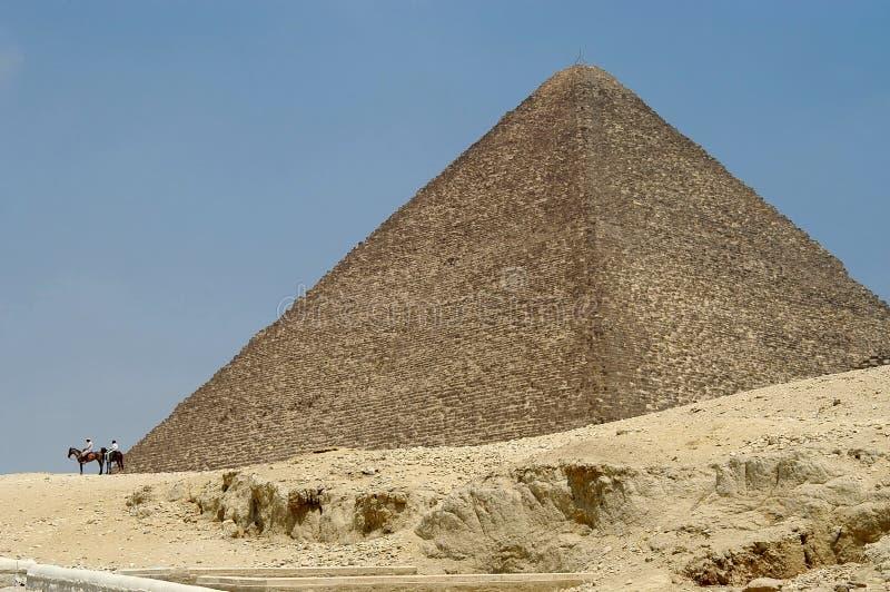 Egyptische piramide stock afbeeldingen