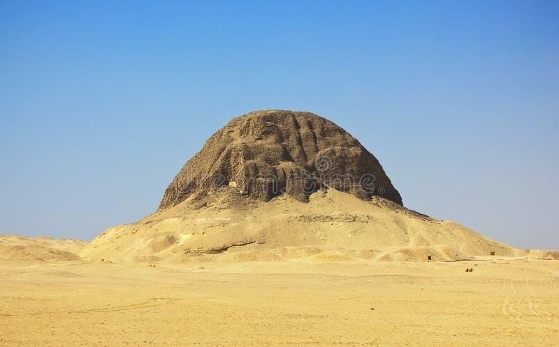 Egyptische piramide in al-Lahun royalty-vrije stock afbeelding