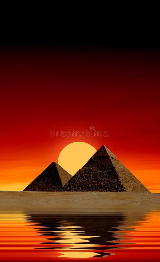 Egyptische piramides vector illustratie